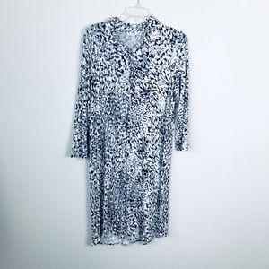 CAbi Animal Print shirt dress